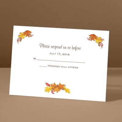 Fall Foliage - Response Card and Envelope