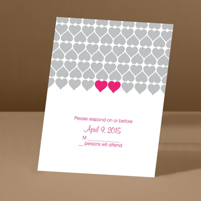 Sweet Hearts - Lipstick - Response Card and Envelope