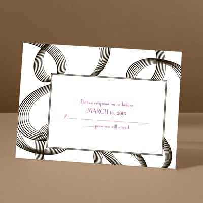 Beautifully Modern - Ebony - Response Card and Envelope