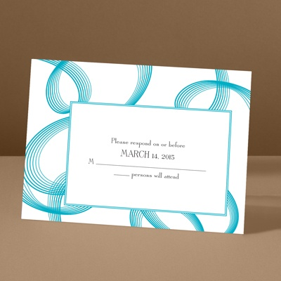 Beautifully Modern - Palm - Response Card and Envelope