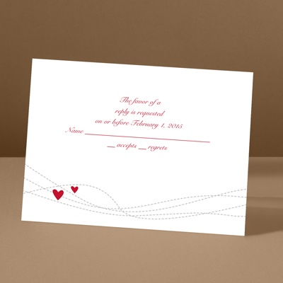 Heartstrings - Barn Red - Response Card and Envelope