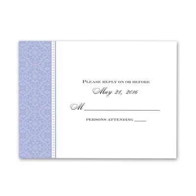 Sweet Sophistication - Hydrangea - Response Card and Envelope