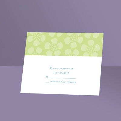 Pretty Petals - Pear - Response Card and Envelope