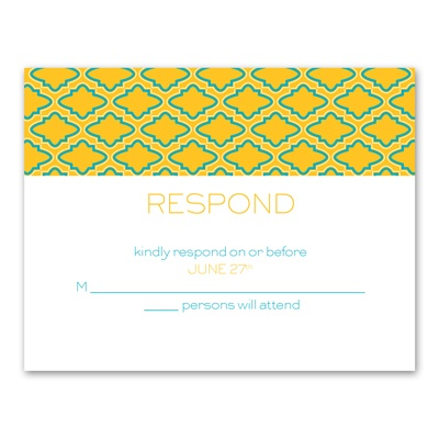 Simply Mod - Response Card and Envelope