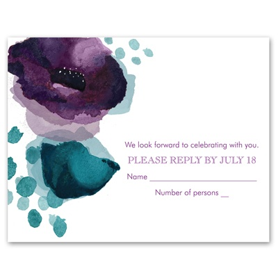 Sultry Blooms - Grapevine - Response Card and Envelope