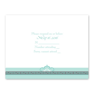 Charming Frame - Response Card and Envelope