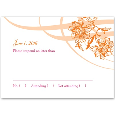 Flowers and Flourishes - Response Card and Envelope