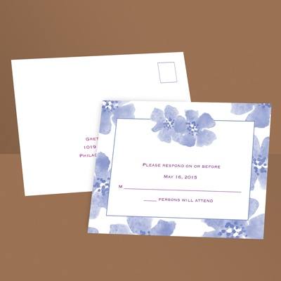Soft and Sweet - Hydrangea - Response Postcard