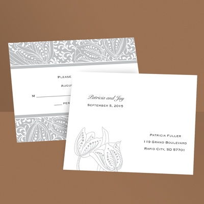 Blossoming Beauty - Gray - Response Postcard