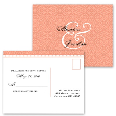 Sweet Sophistication - Tango - Response Postcard