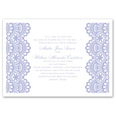 Luxurious Borders - White - Invitation