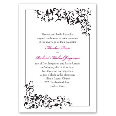 Filigree Perch - Invitation