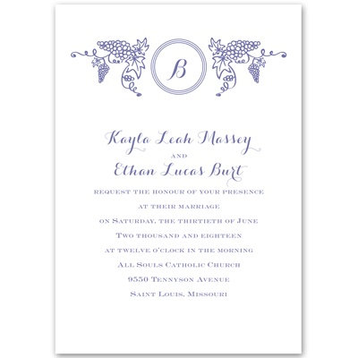 Vineyard Monogram - Invitation