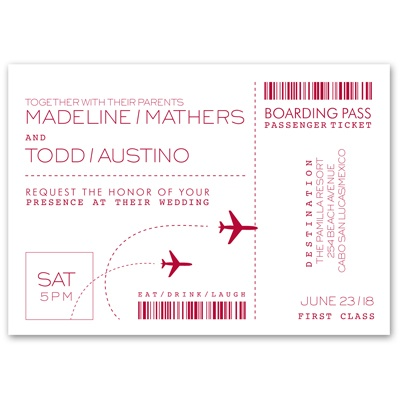 Boarding Pass - Invitation