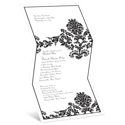 Dashing in Damask - Invitation