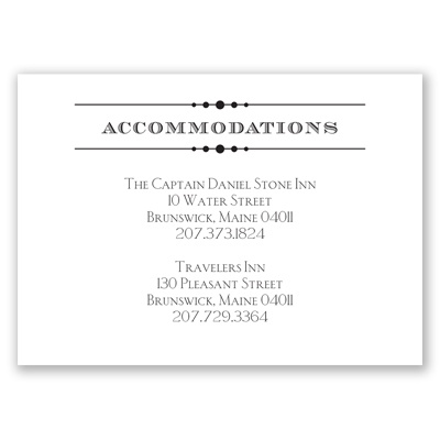 Typography on White - Accommodations Card