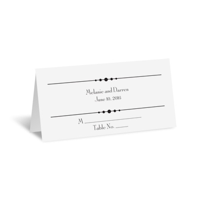 Typography on White - Place Card
