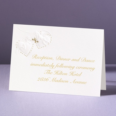 Victorian Cherubs - Reception Card