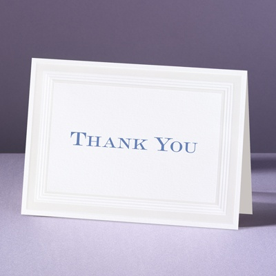 Pearlized Borders - Thank You Card and Envelope