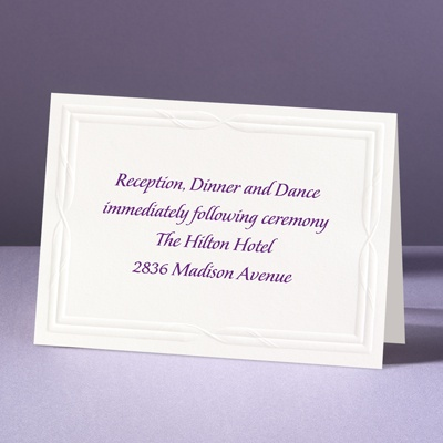 Intertwined Affection - Reception Card