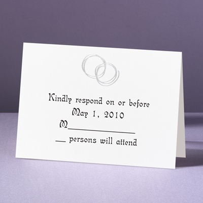Silver Rings - Response Card and Envelope
