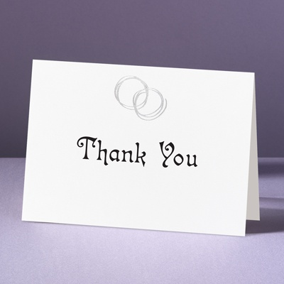 Silver Rings - Thank You Card and Envelope
