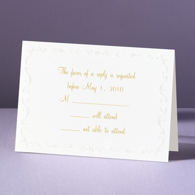 Pearl Frame - Response Card and Envelope