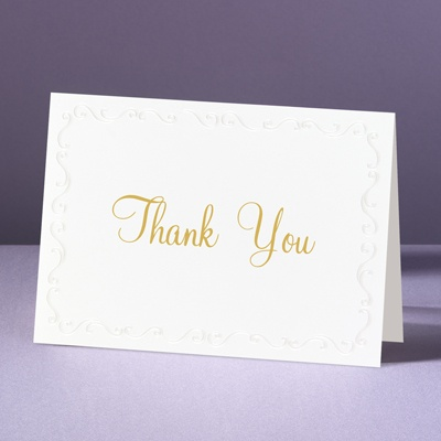 Pearl Frame - Thank You Card and Envelope
