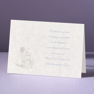 Sandy Shore - Reception Card