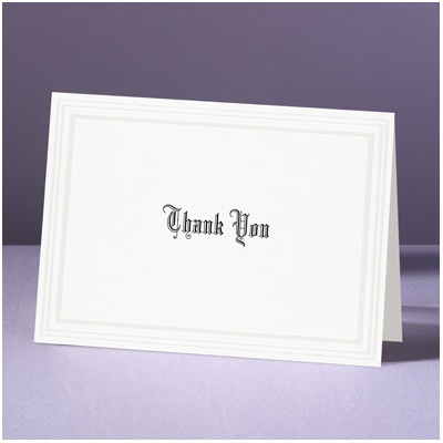 Snow White - Thank You Card and Envelope