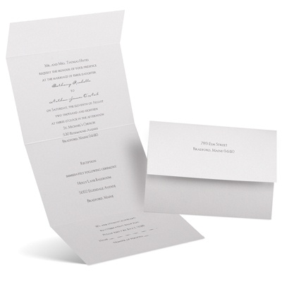 Pearl Beauty - Seal and Send Invitation