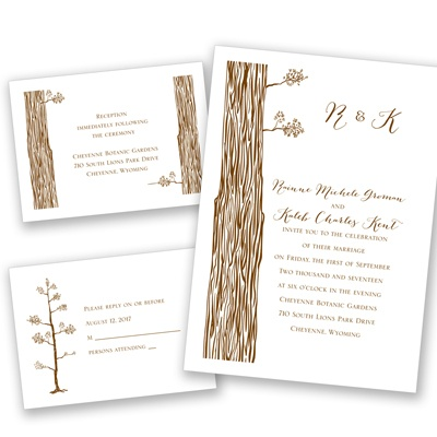 Woods and Whimsy - Separate and Send Invitation