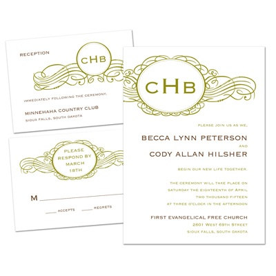 Initial Charm - Separate and Send Invitation
