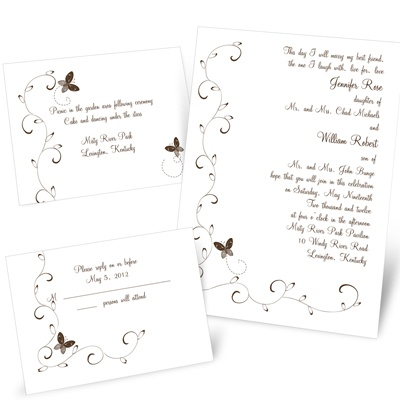 Butterflies - Separate and Send Invitation
