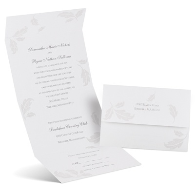 Pearl Leaves - Seal and Send Invitation