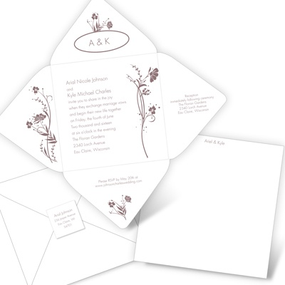 Spring Flowers - Seal and Send Invitation