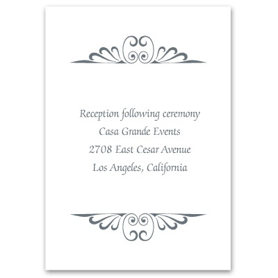 Calligraphy Perch - Reception Card