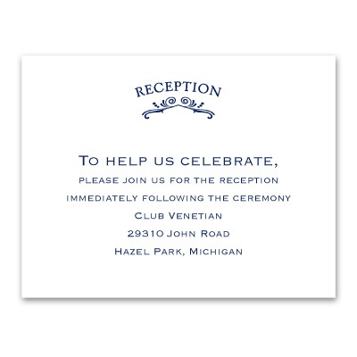 Vintage Allure - Reception Card