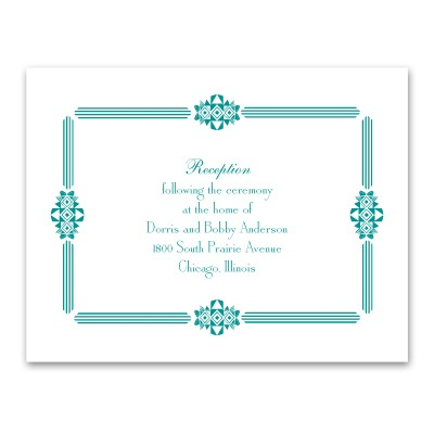 Art Deco Frame - Reception Card