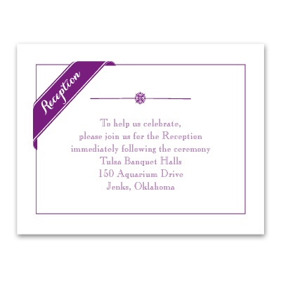 Pretty Details - Reception Card