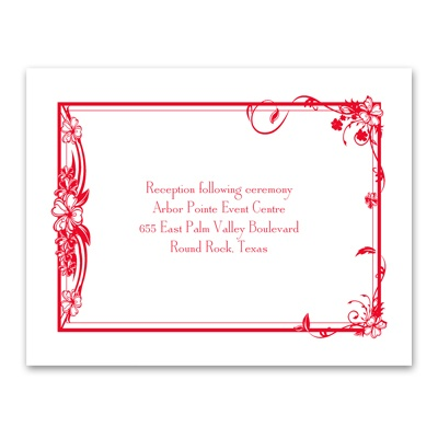 Feathered Heart - Reception Card