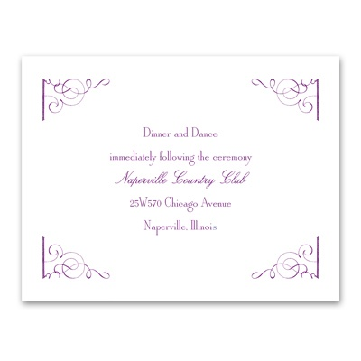 Fairy Tale Romance - Reception Card
