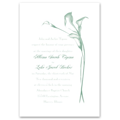 Calla Lily Arch - Invitation