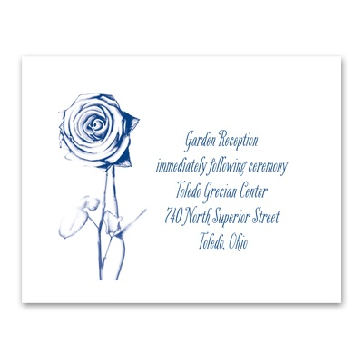 Delicate Rose - Reception Card