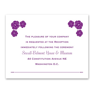 Flower Patch - Reception Card