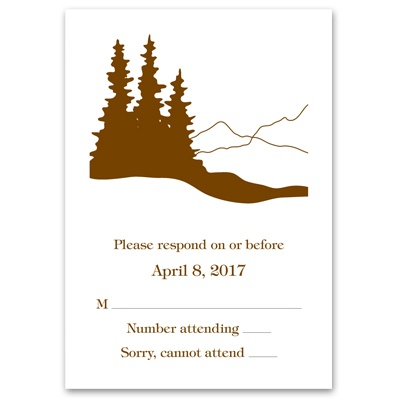 Deer Silhouettes - Response Card and Envelope