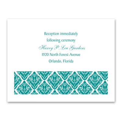Damask Diamonds - Reception Card