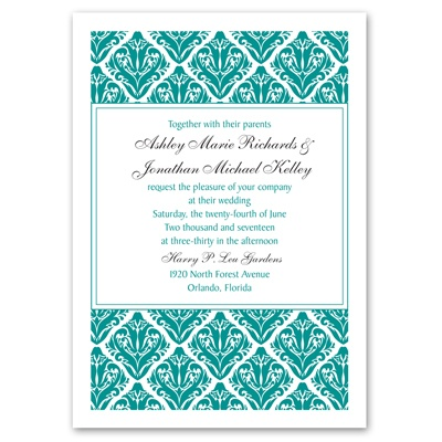 Damask Diamonds - Invitation