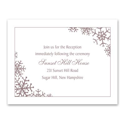 Snowflake Sensation - Reception Card