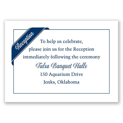 Ribbon Corners - Reception Card